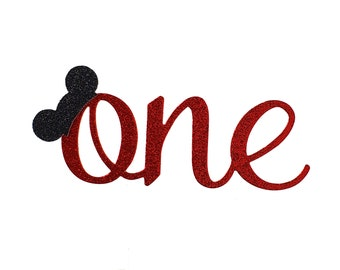 Mickey First Birthday Cake Topper, Mouse ears First Birthday cake topper, Smash Cake, Mouse Ears cake topper, one cake topper