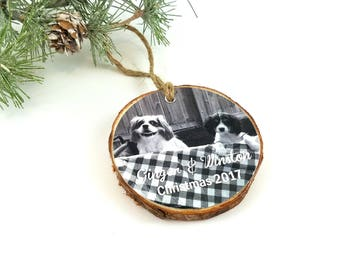 Photo Christmas Ornament – Photo Holiday Ornament – Pet Christmas - Photo Keepsake Ornament - Personalized Keepsake Gift