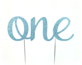 Blue One Cake Topper, birthday cake toppers, First Birthday cake topper, Smash Cake, one cake topper, birthday cake decorations
