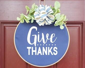 Swap-It Door Decor Insert - Give Thanks