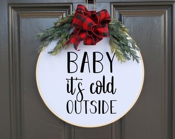 Swap-It Door Decor Insert - Baby It's Cold Outside