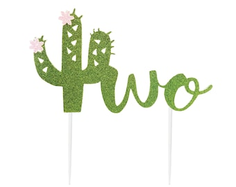 Cactus Cake Topper, Taco Twosday, Cactus Birthday Decorations, Fiesta Birthday