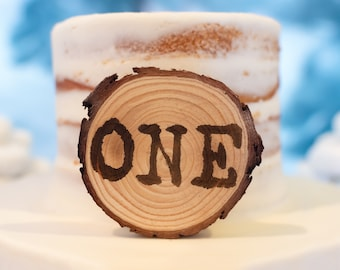 Wood Disc Cake Topper, birthday cake toppers, First Birthday cake topper, Smash Cake, one cake topper, birthday cake decorations