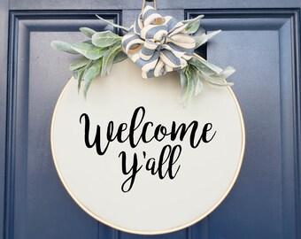 Swap-It Door Decor Insert - Welcome Y'All