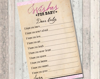 Cowgirl Baby Shower - Wishes for Baby