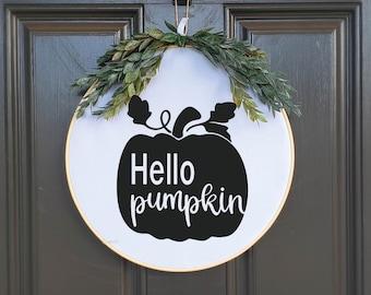 Swap-It Door Decor Insert - Hello Pumpkin