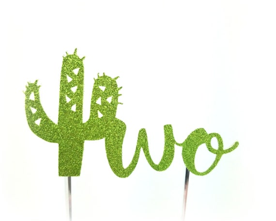 Cactus Cake Topper, Cactus birthday cake toppers, flower, Second two 2 Birthday cake, Smash Cake, birthday decorations, taco twosday