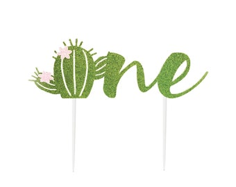 Succulent Cake Topper, Cactus First Birthday, For Smash Cake