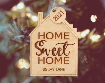 New Home Ornament, 2021 Ornament, Christmas Ornament, Secret Santa Gift, Ornament Exchange