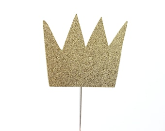 Crown Cake Topper – Wild Things Theme Party – Prince Birthday Party – King Birthday Décor – Wild Things Party Decor