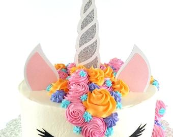 Glitter Unicorn Cake Topper - Unicorn Baby Shower – Baby Shower Décor - Unicorn Party Décor – Unicorn Gender Reveal – Unicorn Themed