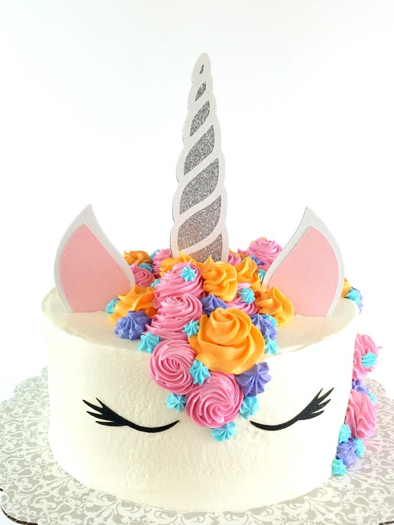Unicorn Cake Topper – Unicorn Theme Party – Unicorn Birthday Party – Glitter Party Décor – Unicorn Birthday Décor – Unicorn Party Decor