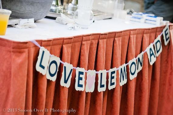 Bridal Shower/ Wedding Banner: Love and Lemonade