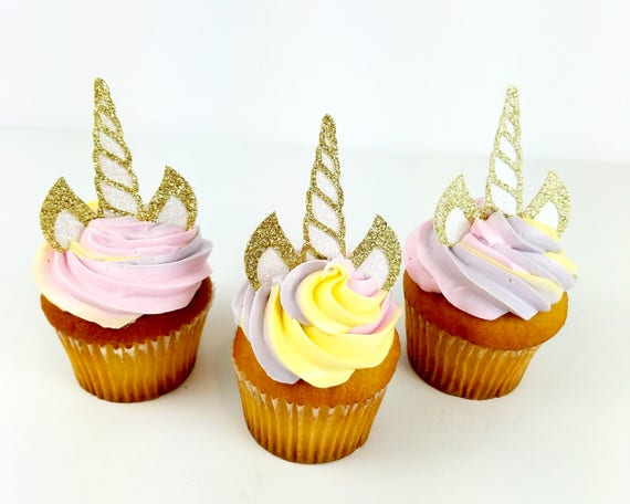 Unicorn Cupcake Topper – Unicorn Theme Party – Unicorn Birthday Party – Glitter Party Décor – Unicorn Birthday Décor – Unicorn Party Decor