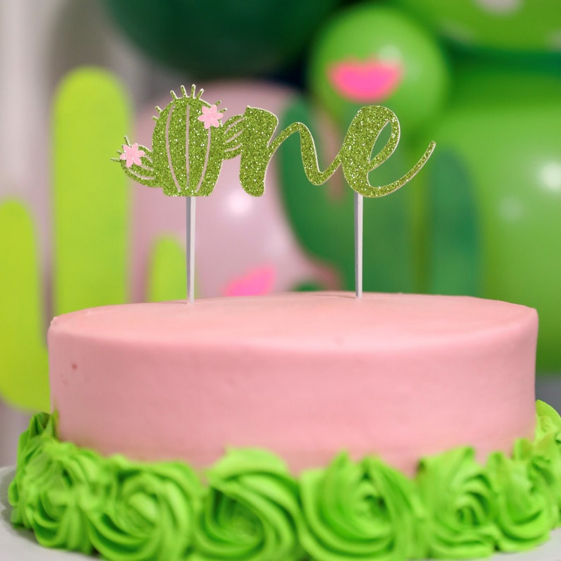 Cactus Cake Topper Cactus birthday cake toppersflower ...
