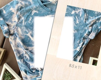 Bleach Tie Dye Template, rectangle, Acrylic Shirt Template, Reusable Template, T-Shirt Square, Bleach Template, Tie Dye Sublimation Template