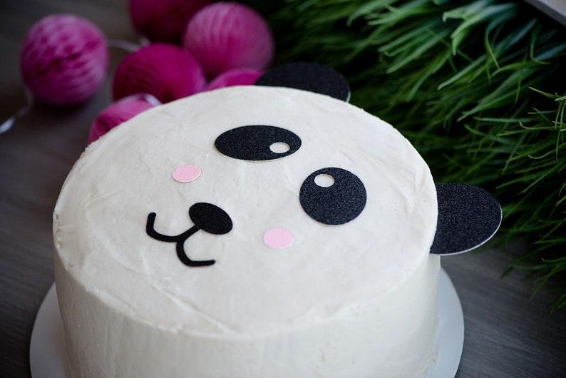 e67e876ba75bb Panda Bear Topper – Panda Theme Party – Panda Birthday Party – Glitter  Party Décor – Panda Birthday Décor – Panda Party Decor