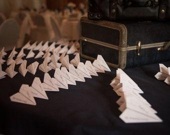 Airplane Seating Cards - DIY Digitial Download - I design You Print - Travel Theme Wedding - Adventure Destination Theme Décor