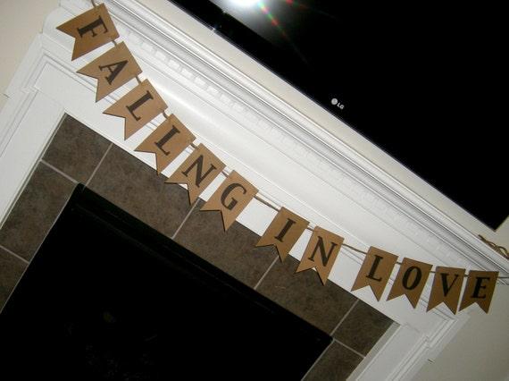 Wedding - Bridal Shower Banner: Falling in Love