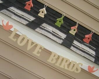 Love Birds Banner - Bridal Shower - Wedding