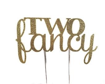Two Fancy Cake Topper – Two Fancy Theme Party – Second Birthday Party – Two Fancy Birthday Décor – Two Fancy Party Decor