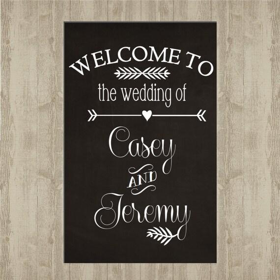 Wedding Welcome Sign - Chalkboard