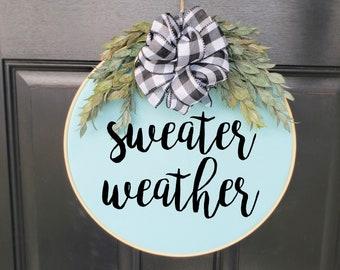 Swap-It Door Decor Insert - Sweater Weather