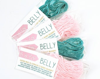 B is for Belly - Pregnant Belly Measuring Game - Baby Shower Game - Measure the Bump - Baby Belly Game - Bags Assembled