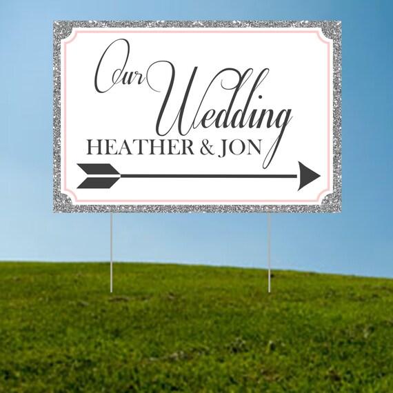 Wedding Directional Yard Sign Image