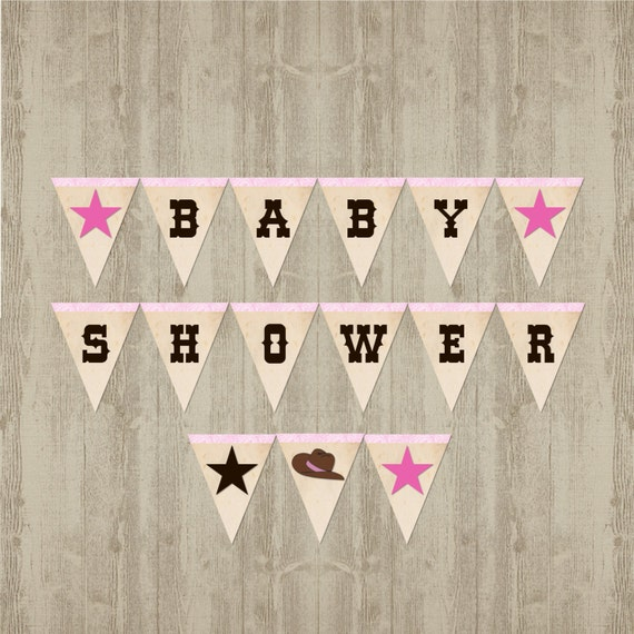 Cowgirl Baby Shower Banner