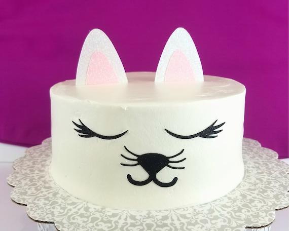 Kitty Cat Cake Topper Birthday Cake Toppers Birthday Cake Etsy