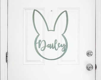 Personalized Easter Bunny Wall Decor