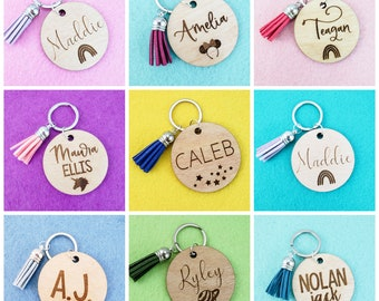 Backpack Name Tag, Personalized Keychain, Purse Charm, Backpack Keychain, Purse Keychain,