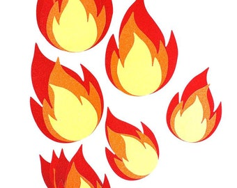 Firetruck Birthday Wall Flames - Firetruck Birthday – Baby Shower Décor - Firetruck Party Décor – Firetruck Themed - Fireman Themed