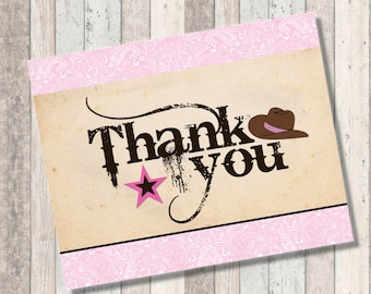 Cowgirl Baby Shower Thank You Sign