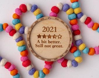 2021 Review Ornament, 2021 Ornament, Christmas Ornament, White Elephant, Secret Santa Gift, Ornament Exchange