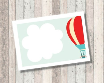 Dream Big Baby Shower- Hot Air Balloon - Food Tents - labels