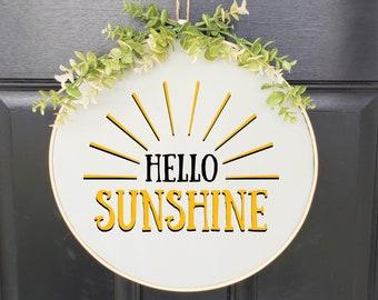 Swap-It Door Decor Insert - Hello Sunshine