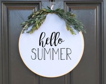 Swap-It Door Decor Insert - Hello Summer