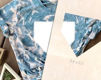 Bleach Tie Dye Template, homeplate, Acrylic Shirt Template, Reusable Template, T-Shirt Square, Bleach Template, Tie Dye Sublimation Template