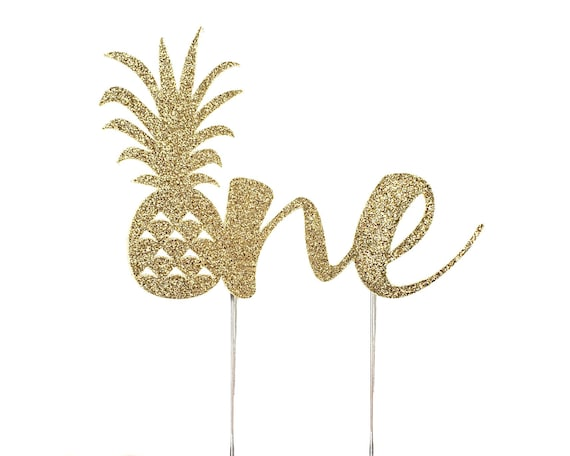 Pineapple One Cake Topper – Pineapple Theme Party – First Birthday Party – Pineapple Birthday Décor – Pineapple Party Decor