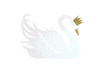 Swan Cake Topper – Swan Theme Party  – Glitter Party Décor – Swan Birthday Décor – Swan Party Decor