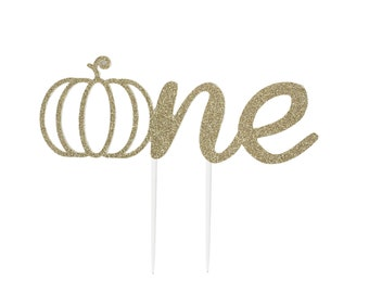 Cake Topper, birthday cake toppers, 1st First pumpkin Birthday cake topper, Gold cake topper, one cake topper, little pumpkin, fall birthday