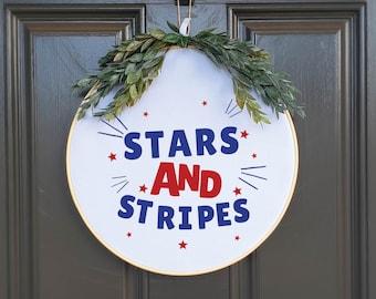 Swap-It Door Decor Insert - Stars and Stripes