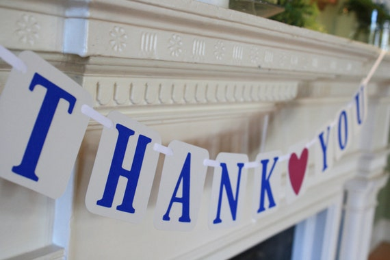 Wedding Thank You Banner