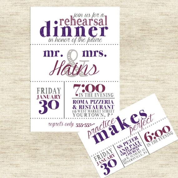 Rehearsal Dinner Invitation: Practice Makes Perfect