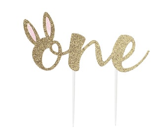 Some Bunny is One, Bunny Cake Topper, 1st Birthday Cake Topper, for Bunny 1st Birthday