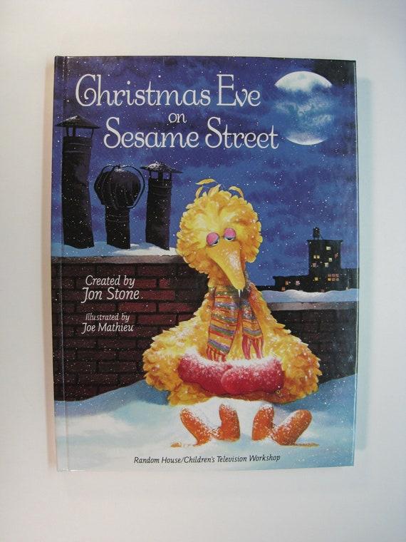 Christmas Eve On Sesame Street.Christmas Eve On Sesame Street John Stone 1981 5th Printing Like New Large Illustrated Hardcover