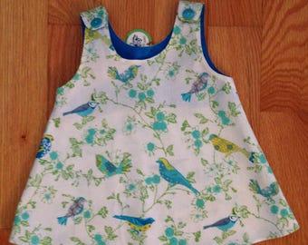 Beautiful birds print dress, for girl .
