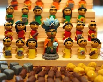 Tzolk'in The Mayan Calendar mepples tokens replacement handmade